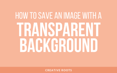 How to Save an Image with a Transparent Background with Photoshop